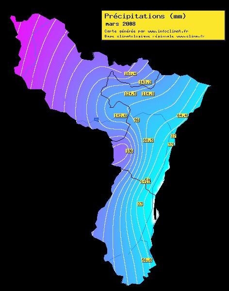 Carte Precipitation Alsace.Association Cli M A 57 67 68